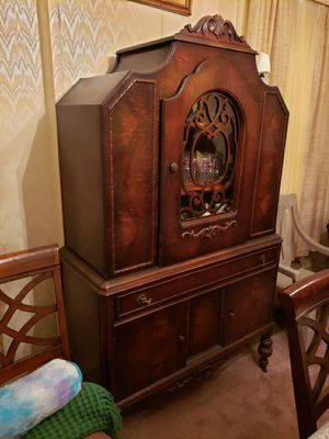 Antique furniture buffet, hutch and dining table with pullout leaf for Sale in North County, MO