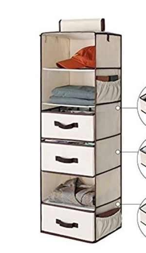 Adjustable 7-Shelf Hanging Closet Organizer for Sale in Tampa, FL
