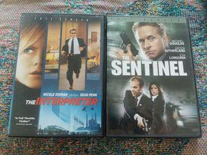 The Interpreter & The Sentinel Dvd Movie Set for Sale in Menifee, CA