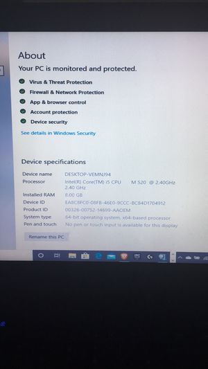 Standard laptop for Sale in Arlington, TX