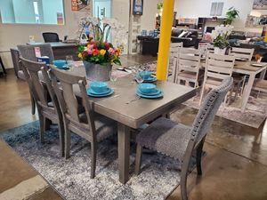 6 PC Dining Set, Grey for Sale in Santa Fe Springs, CA