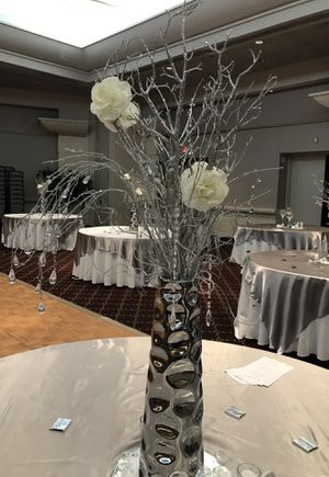 Centerpieces silver branches & crystals for wedding & party & more for Sale in Washington, DC