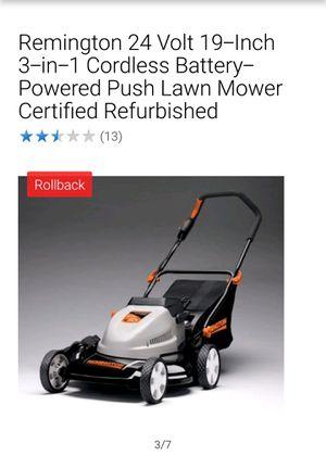 "Remimgton 19"" 24V Cordless Lawn Mower for Sale in Elizabeth, NJ"
