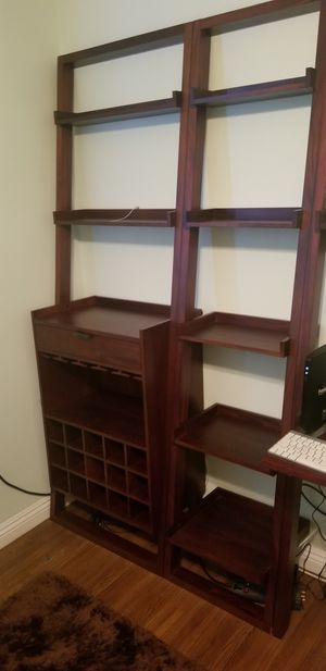 Crate and barrel sloane wine bar and bookshelve for Sale in Irwindale, CA