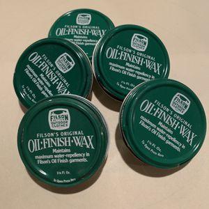 Filsons Original Oil Finish Was , (5) Tins for Sale in Northville, MI