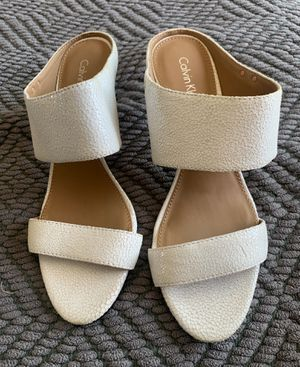 Calvin Klein, women's heels size 6.5 white for Sale in Carson, CA