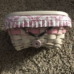 Breast Cancer Longaberger Oval Basket for Sale in Virginia Beach, VA