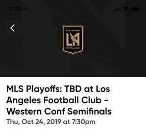 Lafc playoff tickets 10/24 for Sale in Carson, CA