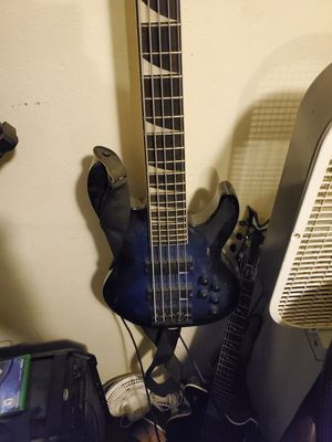jackson jazz 5 string bass guitar for Sale in Stockton, CA