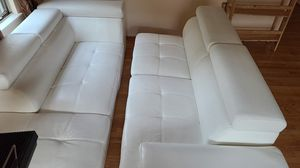 White leather recliner couch for Sale in Germantown, MD