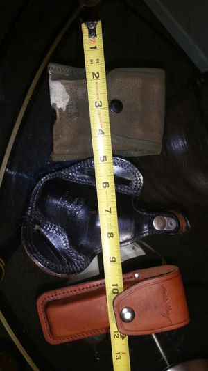 Schrade Uncle Henry Bianchi #8L Shadow Colts leather lot 3 for Sale in Gig Harbor, WA