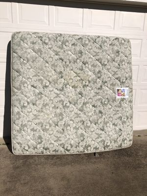 FREE King size mattress and box spring. A little dirty no major rips no major stains still usable absolutely free. NO HOLDS only message me if you ca for Sale in Burleson, TX