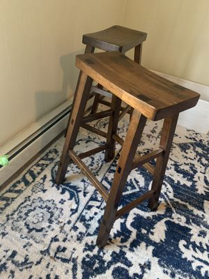 Wood counter or bar stools for Sale in Portland, ME
