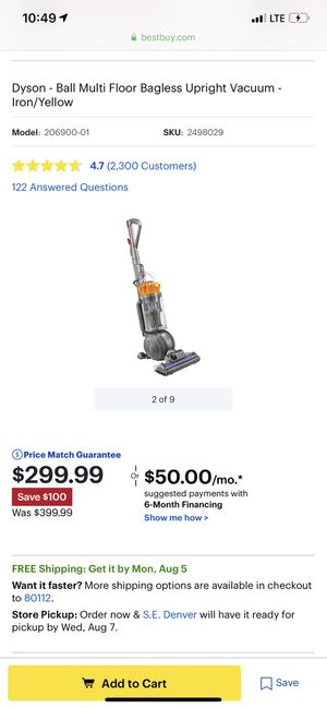 Dyson vaccume for Sale in St. Louis, MO