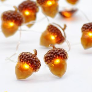 String Lights, Acorn 10ft Silver Wire 40 LED Battery Powered with Dimmable Remote Timer for Ice Age, Indoor Outdoor, Wedding, Birthday Bedroom Firepla for Sale in La Habra, CA