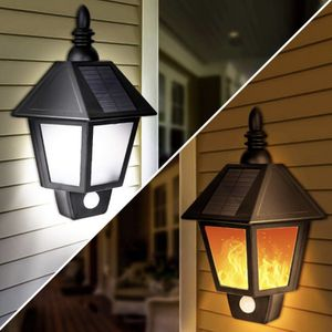 Solar Lights Outdoor, 2 in 1 Sconce Decorative Flickering Flame Wall Lights Dusk to Dawn, Wireless Waterproof Solar Lights Motion Sensor for Outdoor for Sale in Garden Grove, CA