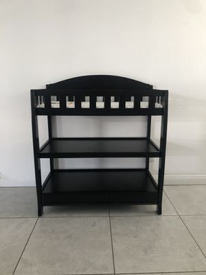 Brand new black changing table with pad for Sale in Fontana, CA