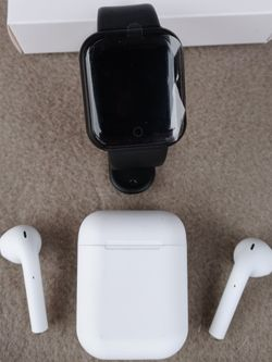 Power Combo 1 Tws Earbud And 1 Tws Smart Watch. 35$ Total New for Sale in Fontana,  CA