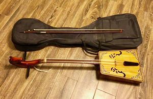 Horsehead Fiddle, Mongolian cello with case for Sale in Hermon, ME
