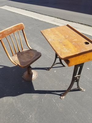 Vintage school desk and chair for Sale in Los Angeles, CA