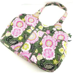 Vera Bradley Womens Tote Bag Olivia Pink Green Floral Cotton Zipper Phone Pocket for Sale in Avondale, AZ