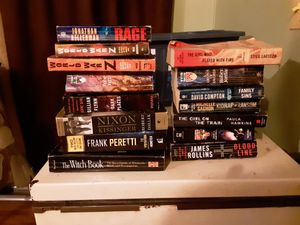 Collection of paperback and hardcover books some 1st edition and rare (sci fi, fantasy, horror, fiction, occult, biographical, and non fiction) for Sale in Calhoun, LA