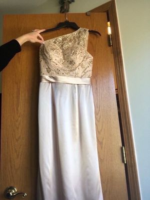 Long evening gown dress (champagne) for Sale in Wixom, MI