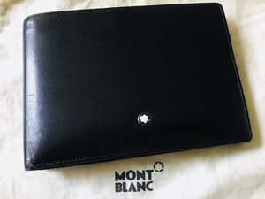 Montblanc Men's Nightflight Black Italian Leather Wallet for Sale in Los Angeles, CA