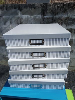 5 Cardboard Decorative Storage Boxes for Sale in Lecanto, FL