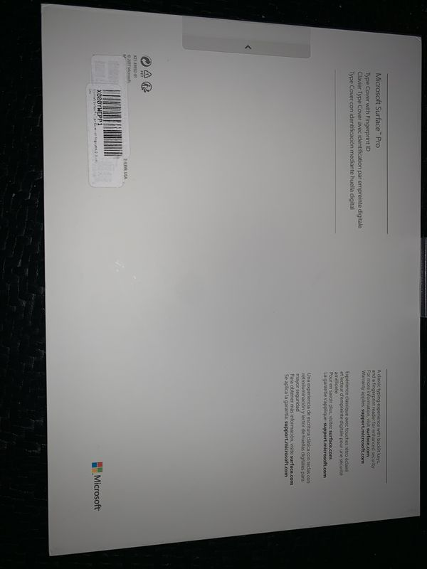Microsoft Surface Pro Type Cover keyboard with Fingerprint ID