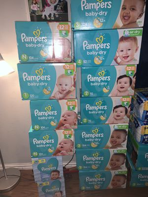 Diapers newborn & size 3 only! PICK UP IN OAK CLIFF for Sale in Dallas, TX