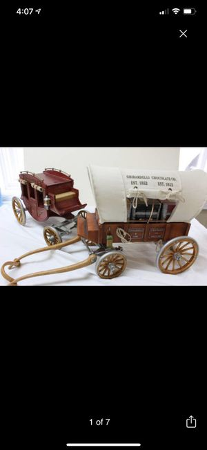Ghiradelli Covered Wagon and Stage Coach for Sale in San Francisco, CA