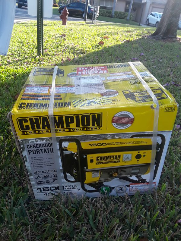 Champion generator new in the box