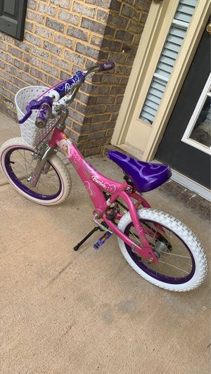 Girl Barbie bike 18 inches like new condition for Sale in Cumming, GA