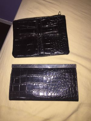 2 piece black leather wallet & small purse set for Sale in Detroit, MI