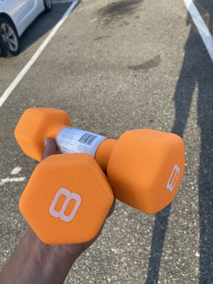 Pair Of CAP 8lbs Neoprene Hex Coated Dumbbell - SDN5008 for Sale in Tampa, FL