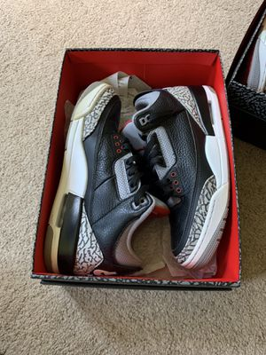 Jordan 3 black cement for Sale in Woodbridge, VA