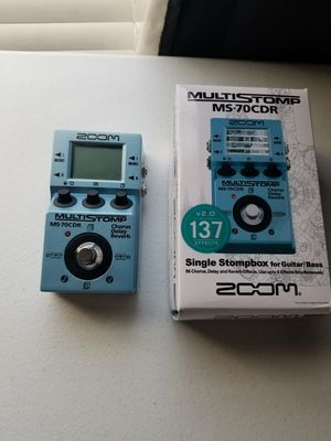 ZOOM multistop digital pedal ms-70cdr for Sale in Mesquite, TX