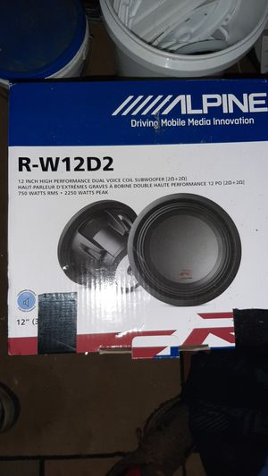 I have two alpine subs I bought from {url removed} for $399.99 I installed one time and had them in for about a month and got better sups for Sale in Milton, FL
