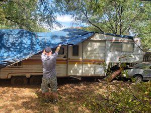 Free 1977 Coachman Travel Trailer Scrap/Metal/Parts Must Tow/Haul Away for Sale in Grand Prairie, TX