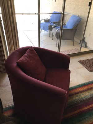 Couch (reclining) and a swivel chair for Sale in Goodyear, AZ