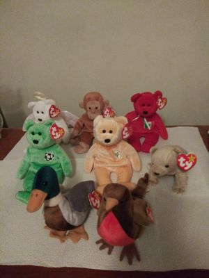 8 value old beanies babies for $30 for Sale in Pawtucket, RI