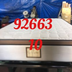 "12"" Thick foam encase pillow top mattress. Free delivery. Twin Mattress only-$199 Mattress & box spring-$235 Full Mattress only-$265 Mattress and for Sale in Newport Beach,  CA"