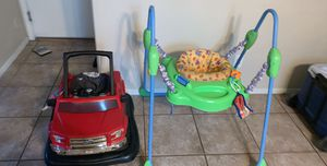 Baby bouncer 4&1 walker and 2 baby car seats for Sale in Maricopa, AZ