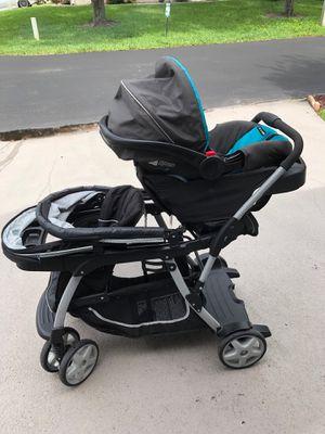 Graco Double Stroller with Infant Car Seat for Sale in Boynton Beach, FL
