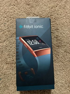 Fitbit FB503CPBU Ionic Smartwatch, Slate Blue/Burnt Orange, OS for Sale in Lebanon, TN