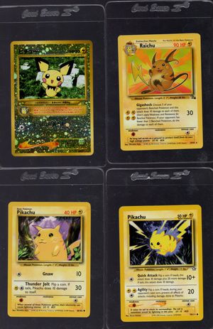 Pokemon Pikachu Trading Card Lot of 4 cards for Sale in Chandler, AZ