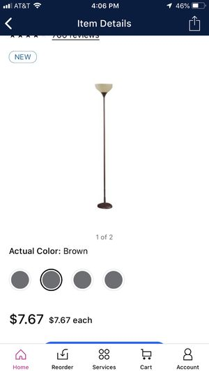 Floor lamp with tea stained shade for Sale in Plantation, FL