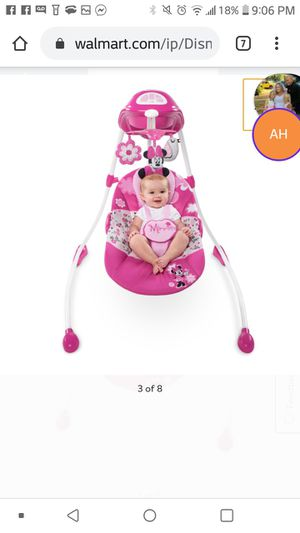 Minnie mousse garden delight baby swing for Sale in Milwaukie, OR