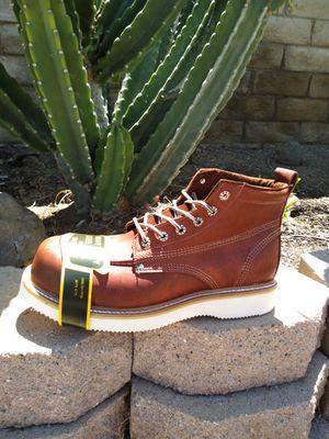 Leather Steel Toe Work Boots-Bota de Trabajo de Casquillo de Mexico de Piel for Sale in Orange, CA